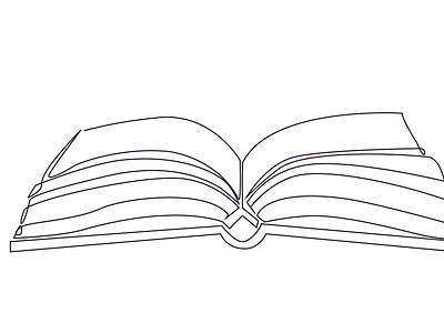 Book one line art fiverr flyer poster ui design one line art ux logo line art vector illustration