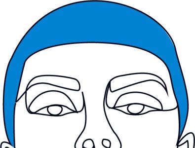 Girl one line art icon poster typography branding ui design one line art ux logo line art vector illustration
