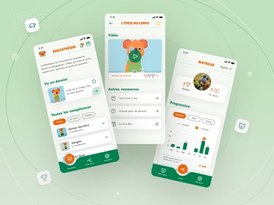 Ben le Koala | App that helps children with autism accessibility accessible user usability friendly playful joga child parents mock-up daily medical educational kids application app children autism ux ui