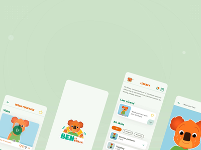 App animation - App for kids with autism autism accessibility accessible library learning learning app app for kids kid children education educational kids player video splash animation application app ui ux