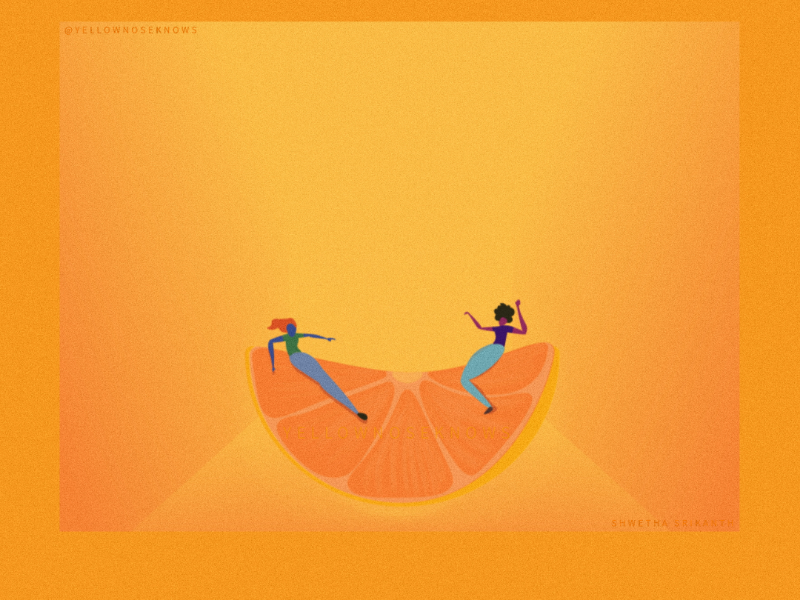 Fresh - Balance design graphic digital vector citrus illustrator adobe lemon