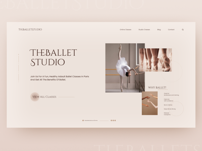 Day03_TheBalletStudio Website Design studio ballet challenge figma uidesign day03 30daysofwebdesign dailywebdesign webdesign