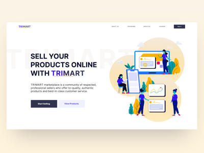 Day02_TRIMART Marketplace Website Design business website e-comerce onlinemarketing marketplace practice uidesign 30daysofwebdesign website design webui dailywebdesign webdesign