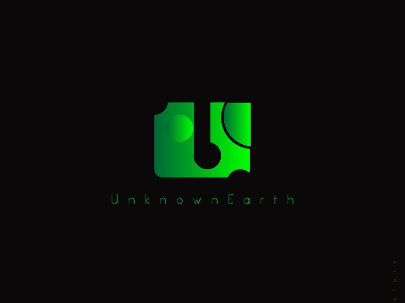 Unknown earth vector graphicdesign green logo modern earth nature simple gradient green black illustration flat design