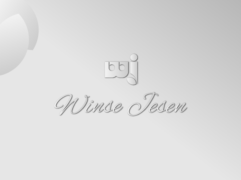 Winse Jesen Store logo symbol illustration alphabet white elegant design logo simple flat design