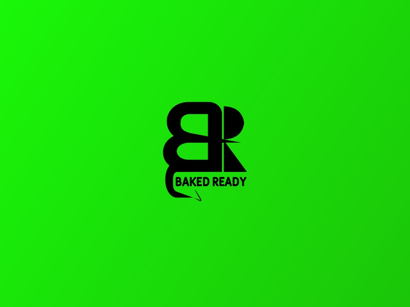 BackedReady shop backery branding green vector black alphabet symbol illustration simple logo flat design