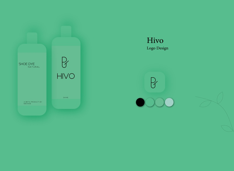 Hivo black icon product mockup branding green vector symbol elegant design illustration simple logo flat design