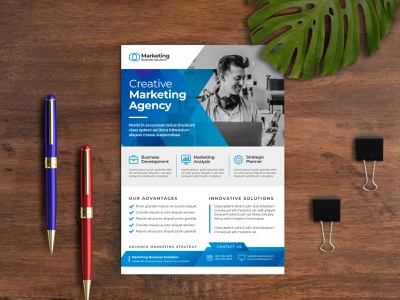 Creative Modern Multipurpose Corporate Flyer Template print multipurpose flyer multipurpose modern marketing flyer marketing graphic flyer editable digital creative flyer creative corporate flyer corporate consulting business flyer business blue ai agency