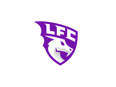 LFC Dragon kreatank gym fitness sketch sport sports soccer football emblem logo head shield dragon