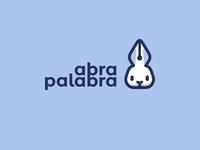 Abrapalabra illustration kreatank text pen writing creative fun playful sweet cute flat log design abracadabra wizard magic bunny rabbit