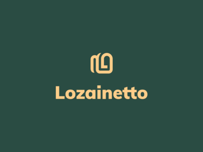 Lozainetto backpack identity school hand-made symbol clever smart kreatank simple creative brand identity branding bold abstract lettermark letter bag logo backpack