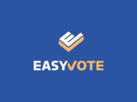 EasyVote e-vote ev kreatank monogram branding brand identity letter mark lettermark check mark creative logo logo design vote easy easyvote