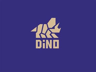 Triceratops Dino logo logomark logotype kreatank geometric strong bold minimal abstract creative branding design logo dinosaur