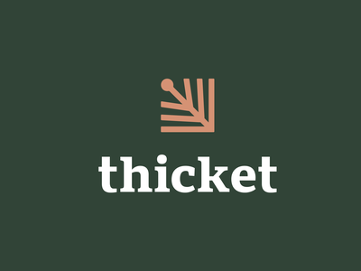 Thicket branding brand identity kreatank creative logo trees nature forest bush book school students academics text writing pen fountain pen thicket