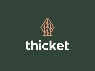 Thicket #3 kreatank creative brand identity branding design logo academics stundets text writing fountain pen pen woods tree branches forest bush thicket