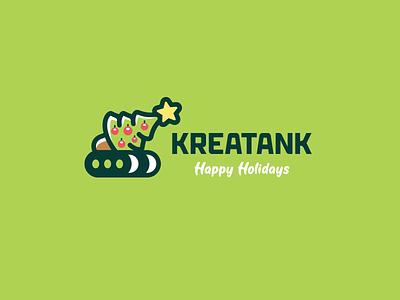 Kreatank Happy Holidays winter happy new year merry christmas creative kreatank logo tank holidays christmas tree chrismas