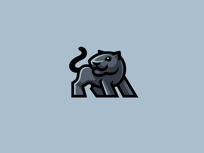 Panther blackpanther black panther kreatank cute creative character mascot logo big cat cat puma jaguar panther