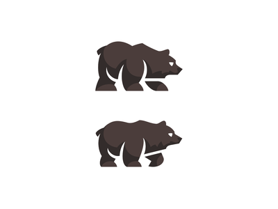 Bear Logomark wildlife illustration kreatank logo animal logo teddy grizzly brown bear bear