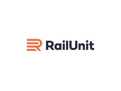 Rail Unit brand identity branding visual identity simple abstract bold creative logo design monogram letter mark rail train railway