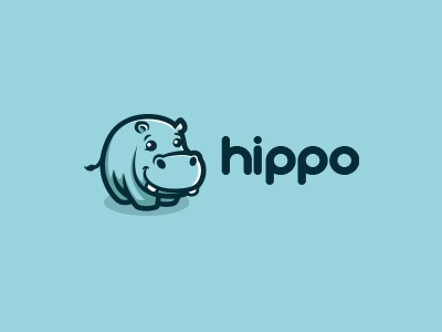 Hippo hippo hippopotamus cute mascot character logo creatank