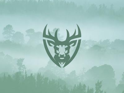 Deer shield kreatank logo hunting buck deer