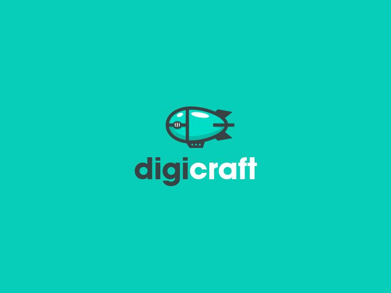 digicraft zeppelin airship mouse bit bite logo kreatank creatank bodea daniel