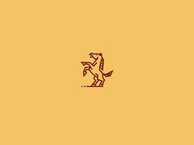 Horsie  farm bodea daniel creatank kreatank lined logo mustang horse