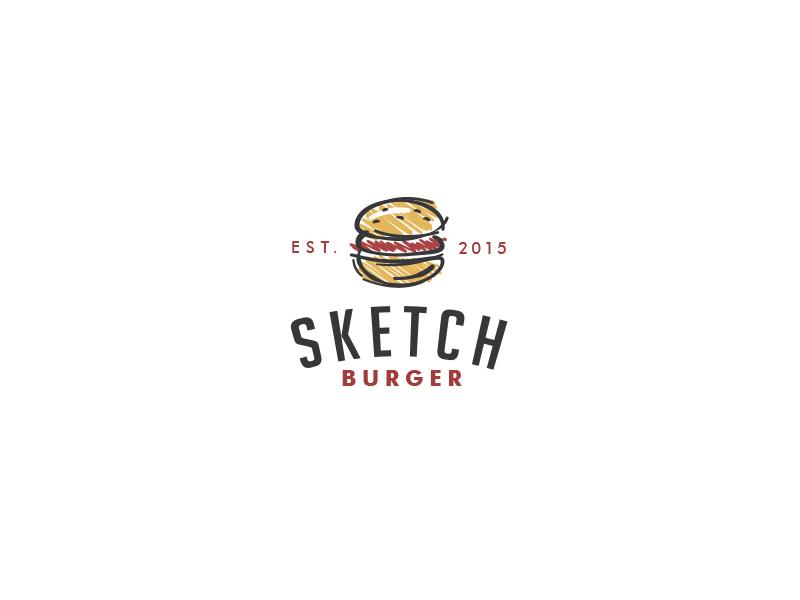 Sketch Burger  bodea daniel logo creatank kreatank hamburger fast-food pub bar restaurant bistro burger sketch