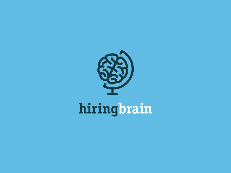 Hiringbrain  bodea daniel creatank kreatank planet company business logo designer identity logo brain hiring