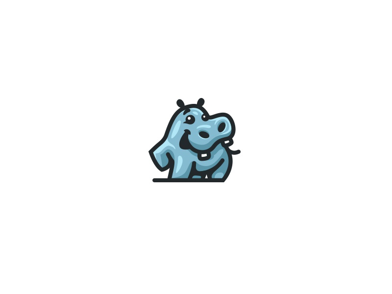 Happy Hippo creatank bodea daniel kreatank animal brand identity logo baby character cute hippopotamus hippo happy