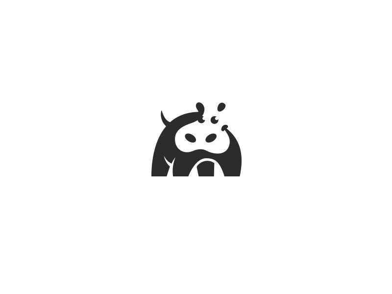 Zippy Hippo  creatank bodea daniel kreatank animal brand identity logo baby character cute hippo happy negative space