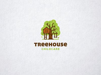 Treehouse Childcare house brand identity kreatank creative swing playful cute logo tree childcare treehouse