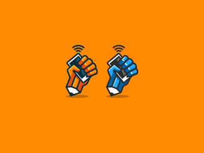 Pencil Hand logo / icon