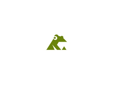 Just a frog kreatank abstract geometric creative negative space logo toad frog