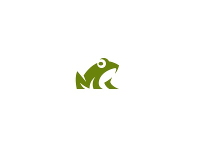 Frog 2 kreatank abstract illustration character mascot creative negative space logo toad frog