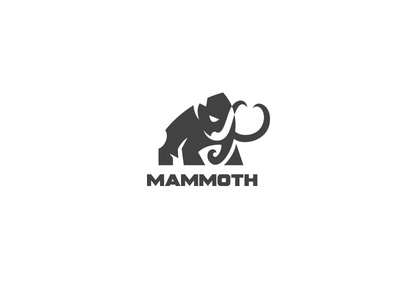Mammoth charging kreatank mark vector character mascot mammut logo mammoth
