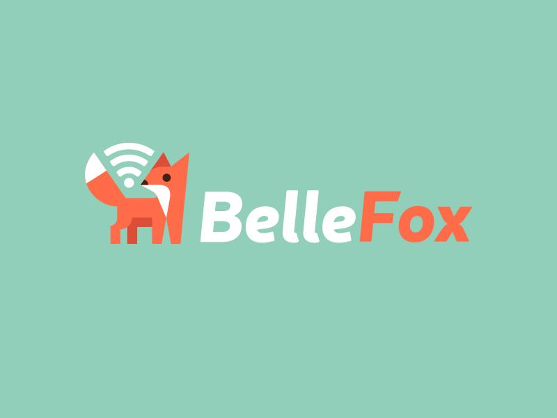 Belle Fox Wifi kreatank illustration creative flat internet wifi fox logo