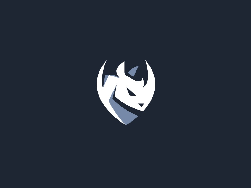 Rhino Shield flat sports creative kreatank shield logo rhino