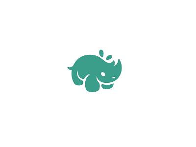 Rhino kreatank mascot character illustration logo sweet playful cute rhinoceros rhino