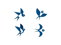 Swallow logo versions