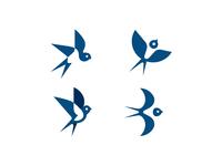 Swallow logo versions