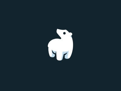 Polar Bear kreatank creative flat animal simple bear arctic snow mascot logo cute polar bear