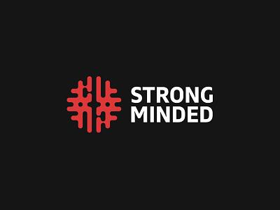 Strong Minded tech maze abstract app mind brain creative logo kreatank