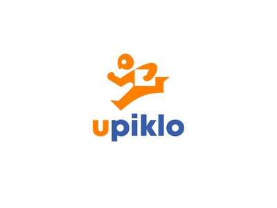 upiklo company shipping transport kreatank creative pick up pickup runner running box negative space delivery