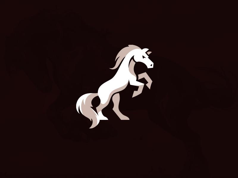 angry horse mascot logo