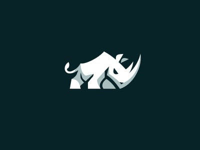 Rhino kreatank aggressive animal fitness gym sports brand identity logo design rhino rhinoceros