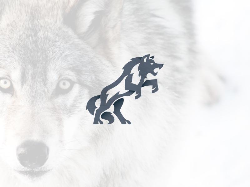 Charging Wolf car automotive kreatank logos fitness gym sports aggressive dog logo wolf charging