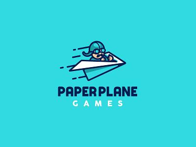 Paper Plane Games kreatank creative illustration cartoony branding brand identity funny logo pilot board games paper plane