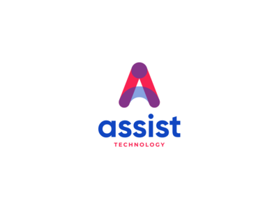 Assist Technology marketing arrow colors flat abstract trasparency transparent brand identity branding logo icon consumer user