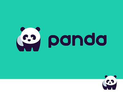 Panda 2.0 font type custom illustration character flat playful cute animal kreatank logo panda